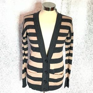 NWT LOFT striped cardigan sweater